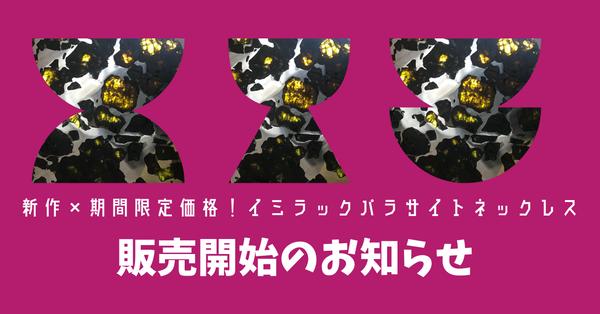 新作&期間限定価格!【イミラック・パラサイト隕石】販売開始★